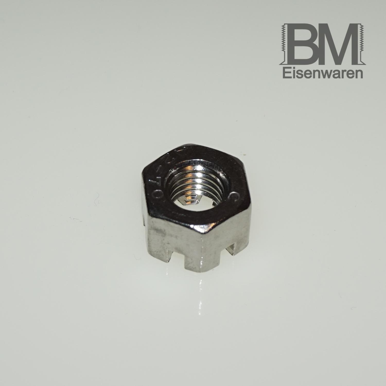 rostfrei   Sechskant-Muttern DERING Kronenmuttern M5 DIN 935 Edelstahl A2 2 St/ück