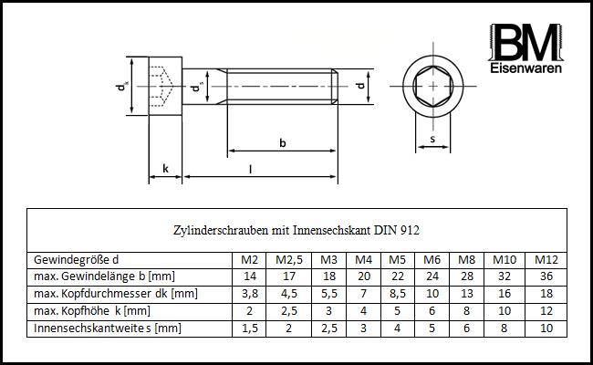 - DIN 912 M3x45 - 25 St/ück aus rostfreiem Edelstahl A2 V2A Zylinderkopfschrauben Zylinderschrauben mit Innensechskant ISO 4762 - Teilgewinde SC912